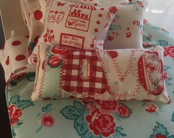 "8 piece bedding set for 18"" dolls"