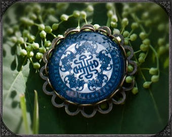 Brooch Blue 1