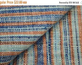 10% Off On Blue and Brown Jacquard Upholstery Fabric by the Yard, Cotton Upholstery Fabric
