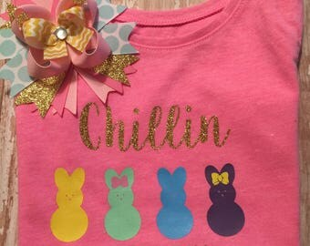 Chillin With My Peeps! Easter Shirt Set
