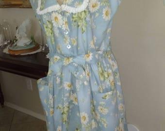 Ladies Cotton Floral Dress, Size 12