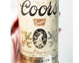 Vintage 12oz Steel Old Adolph Coors Beer Co. Flat Top Beer Can From Golden Colorado- Man Cave Decor