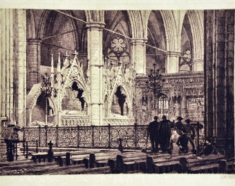 Axel Herman Haig - Westminster Abbey: View Of Chancel From South Transept