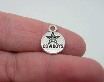 10 Silver Tone Dallas Cowboys Charms. B-015