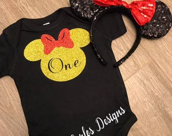 Minnie Mouse Birthday Shirt | Minnie Mouse Birthday Outfit | Minnie Mouse Shirt | Minnie Mouse Birthday | Minnie Mouse Party | Minnie Mouse