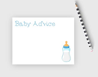 Baby shower advice cards, baby boy shower advice cards, baby shower games,  baby shower note cards, baby stationery, flat note cards, BBB