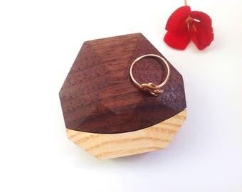 Wooden ring box Wedding ring box for ring Wedding box for ring Engagement ring box Wooden Engagement gift box Wood ring box proposal ring