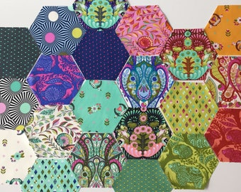 Pre-Cut Hexagons featuring Slow & Steady by Tula Pink