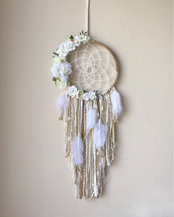 Custom Floral/Feather dream catchers