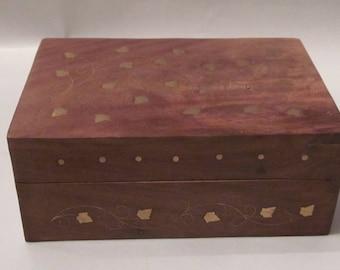 Solid wood, gold leaf box