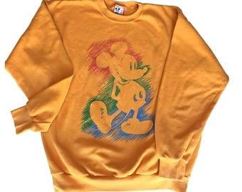 Mickey Mouse Sweatshirt Unisex L/XL Disney Design made in USA vintage