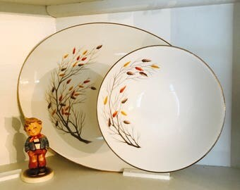 Vintage Retro Large Tierd Serving Dish