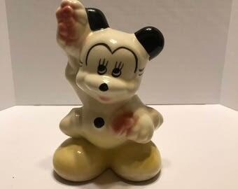 1940s Mickey Mouse Ceramic Bank Walt Disney