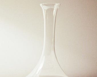 ON SALE Vintage Modern Bottle Shape Glass Vase