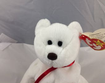 Ty Beanie Baby Valentino the Valentine Bear Born  February 14, 1994 Original MWT Gift Quality