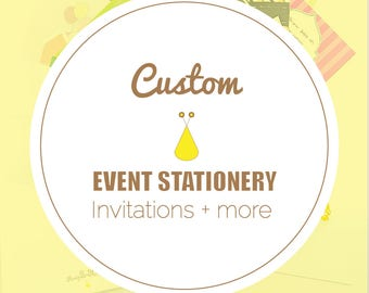 Custom Invitations & Announcements,Bespoke,Birthdays,Save The Dates,Party + Wedding Signs,Programs,Place Cards