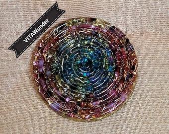 "Orgonite ® VITAWunder Coaster, unique-73 mm-""big spiral"""