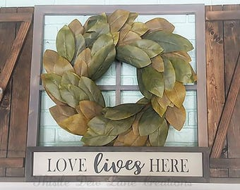 Love lives Here sign, love lives here wood sign, farmhouse decor