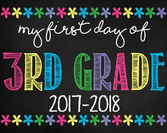 My First Day Of Third 3rd Grade Printable