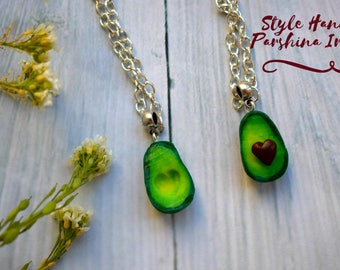 avocado necklace, Miniature avocado, Avocado keychain, necklace, bracelet, Avocado earrings, avocado, avocado souvenir, avocado pendant