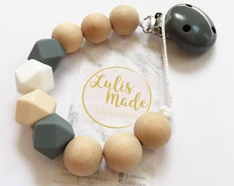 Dummy clip beaded pacifier clip chain holder personalized baby gift, attache sucette tètine, Schnullerkette, portacuccio, chupetero, baby