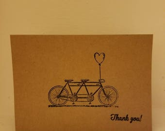 Vintage bicycle thank you cards