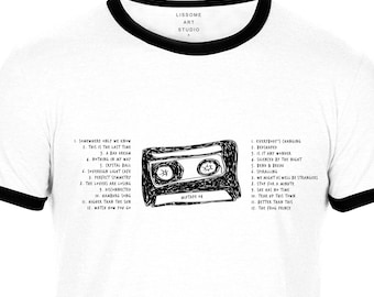 Mixtape T-Shirt KEANE by Lissome Art Studio