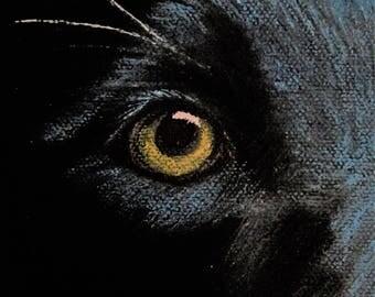 Soul of a Black Lab,dog,painting,oil,original,wall art,face,labrador,retriever,unique