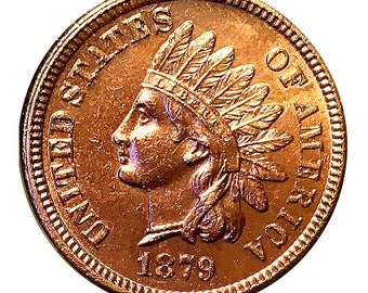1879 Indian Head Cent - Gem BU / MS RD / Unc
