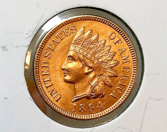 1894 Indian Head Cent - Gem BU / MS RD / Unc
