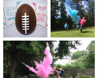 Ships next day! End of summer sale! Football Gender Reveal Football Gender Reveal Ideas Football Reveal Fast Shipping!