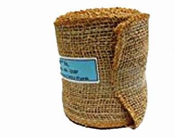 AAYU Brand Premium Jute Ribbon | Burlap Roll |  1.5 Inch, 3 inch, 4 inch,  5 inch | 10 yards | food grade burlap | Natural Jute Ribbon