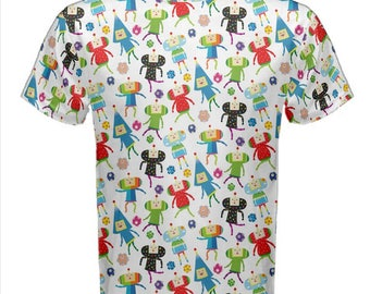 Rolling Cousins Tshirt - Katamari Mens Cotton T-Shirt Katamari Cousins Tshirt Katamari Damacy T-Shirt Plus Size Tshirt Videogame Tshirt