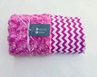 Pink Chevron Baby Blanket
