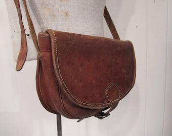 Vintage bag, leather bag, hunting bag, cartridge bag, shoulder bag, shooting bag