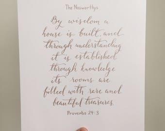 21-30 words / Custom Calligraphy