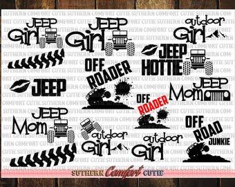 Jeep svg bundle, svg cuttable bundle, svg bundle files, svg packs, jeep svg, jeep decal, jeep girl, jeep svg files, jeep svg cut files, jeep
