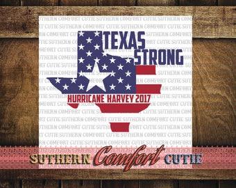 Texas Strong SVG, Texas strong file, harvey svg, harvey relief shirt, harvey svg file, hurricane harvey svg, texas decal, harvey decal