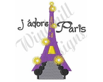 Eiffel Tower Paris France - Machine Embroidery Design
