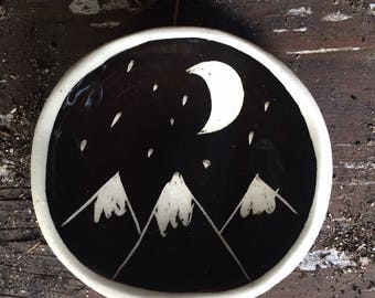Moon and Mountains small ring dish