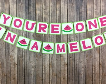You're One In A Melon, First Birthday, Photo Prop, Summer Decor