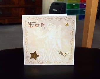 Virgo Horoscope Birthday Card - Zodiac/Star Sign -luxury personalised unique quality special astrological UK