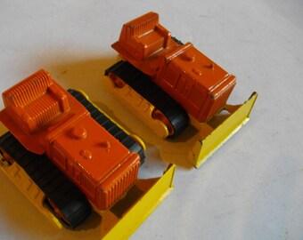 Tootsie Toys Metal Bulldozers Lot Of 2