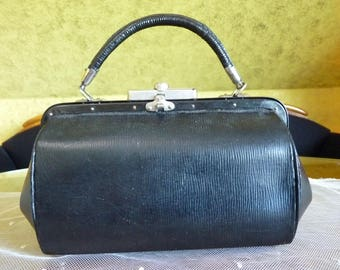 1908 Black Handbag, Germany, antique bag, antique handbag, Edwardian handbag