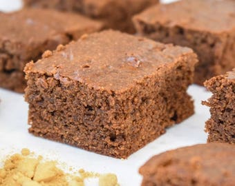 One Dozen Gingerbread Squares- Vegan, Vegetarian, Gluten Free, Sugar Free, Paleo, Clean Eating