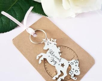 Unicorn Keyring - Personalised