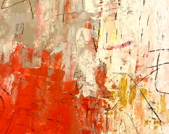 Original Abstract Painting on Paper, modern art, expressionism