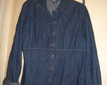 Forenza Vintage 90's Blue Jean, Denim Top-Jacket Size 18