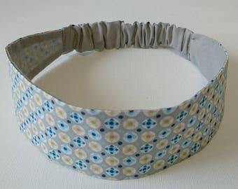Elastic headband, headband, fabric headband reversible woman