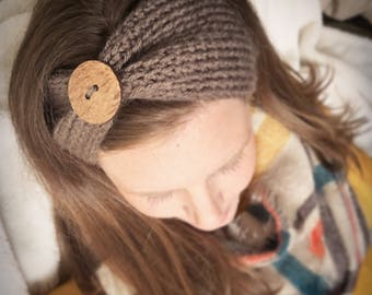JEWEL TONES - button embellished crocheted ear warmer headband